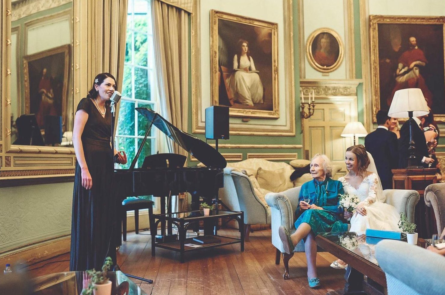 Paula Marie performs at a luxury wedding venue in Masham, North Yorkshire.